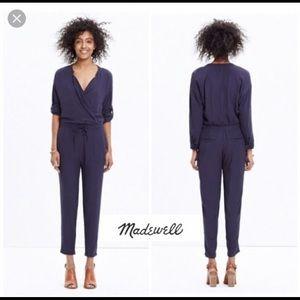 Madewell navy blue jumpsuit